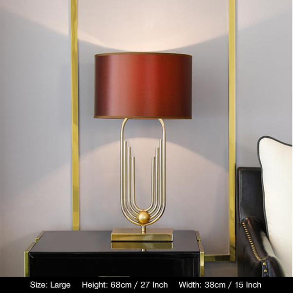 Triton Table Lamp - Coffee Brown - Wallencia Home Decor