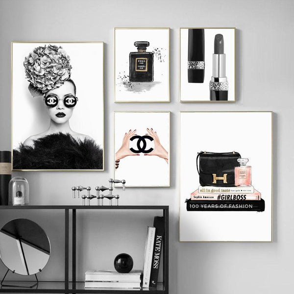 Chanel Fashion feelthestyle 5 Pieces 30X40 cm / 12X16 Inch