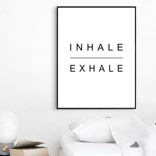 Inhale Exhale - Wallencia Home Decor