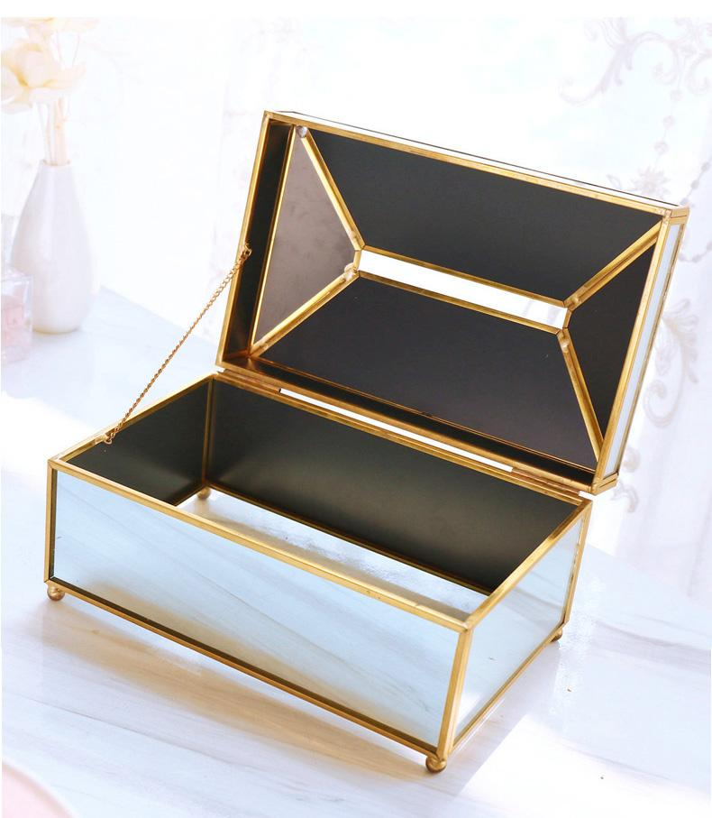 Kleen-X™ Golden Mirror Tissue Box - Wallencia Home Decor