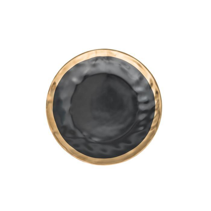 Pearl Black Plate - Wallencia Home Decor