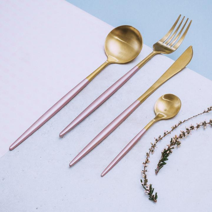 Lux Sentona Rose & Gold - Silverware Set - Wallencia Home Decor