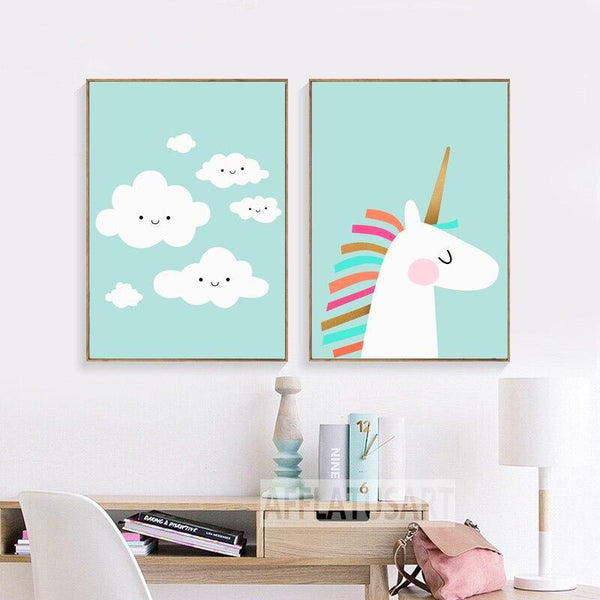 Rainbow Unicorn - Wallencia Home Decor