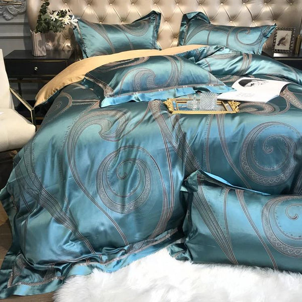 Sleeping Turquoise - DUVET COVER SET (EGYPTIAN COTTON) - Wallencia Home Decor