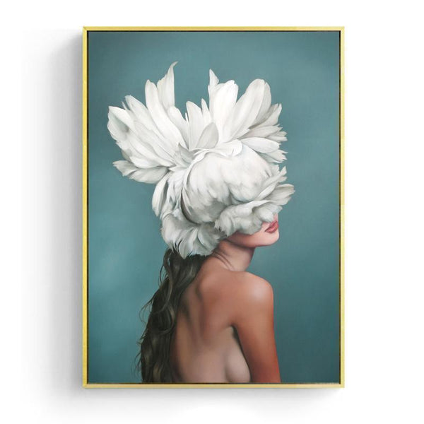 White feather girl - Wallencia Home Decor