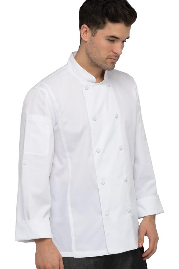 Chef Works Bowden Cool Vent Roll Up Sleeves Chef Coat-Front