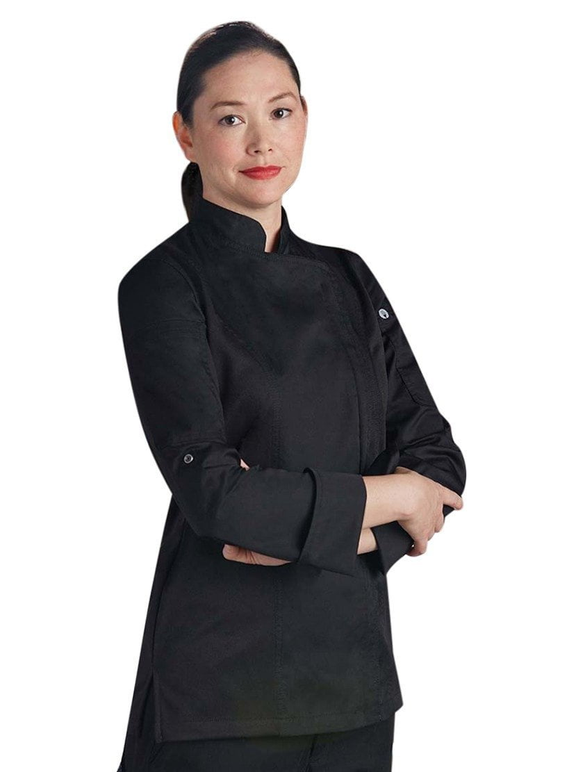 Chef Works Manteau de chef Hartford Femme Noir
