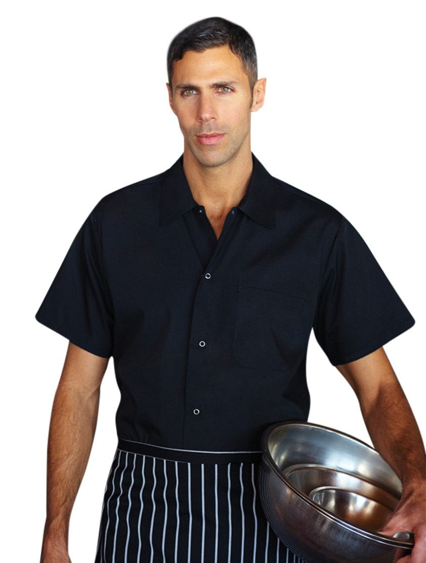 Chef Works Chemise Utility Black Front Profile