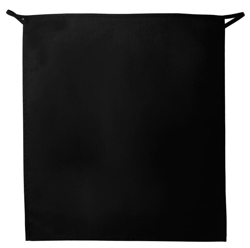 "Full Bistro Apron w/No Pockets 32""L x 28""W Black Spread"