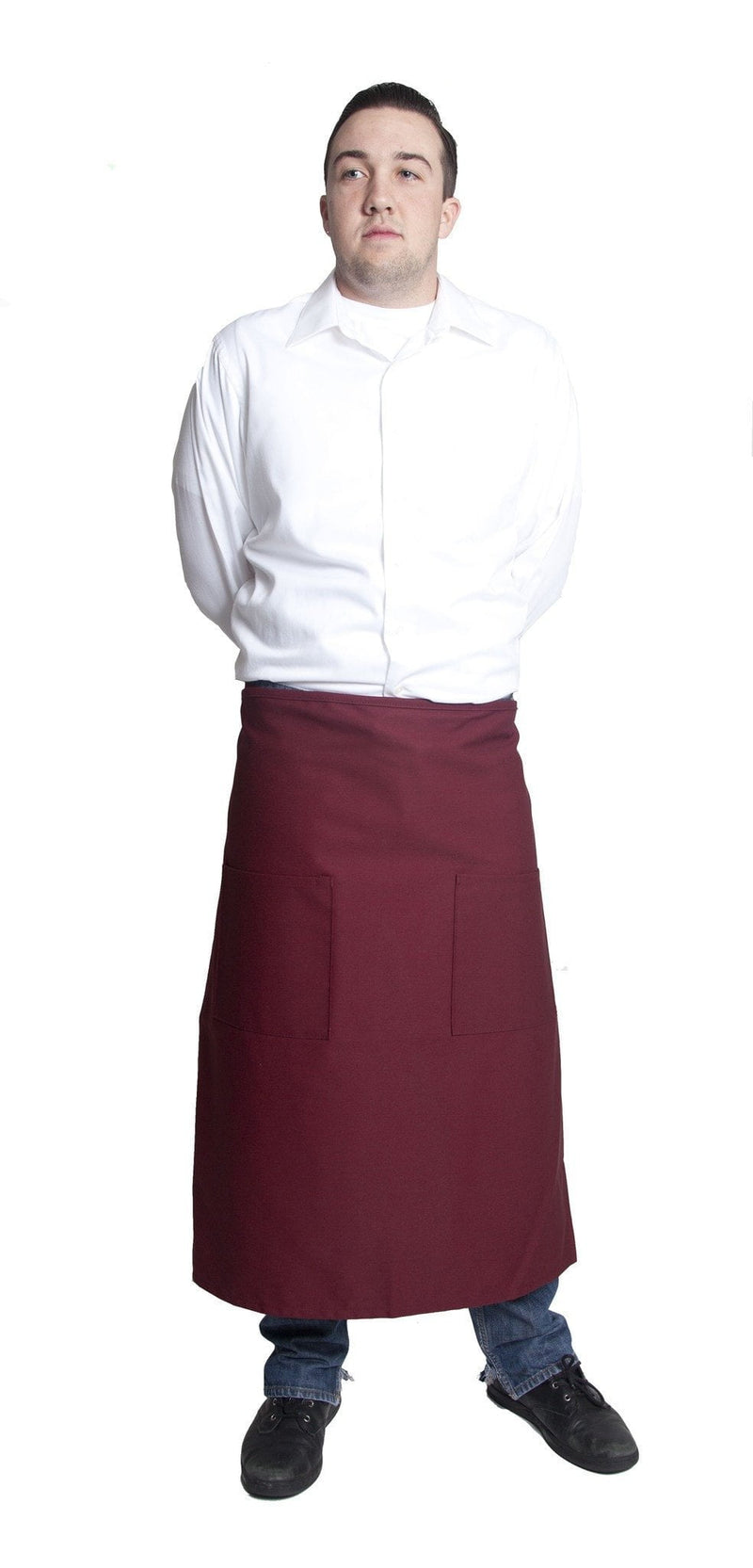 "Fiumara Apparel Full Bistro w/2 Pockets 32""L x 28""W Wine"
