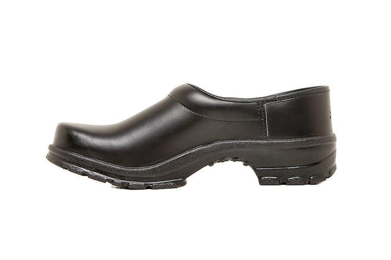 Birchwood Comfort Chef Clog by Sika Footwear Black Side Left