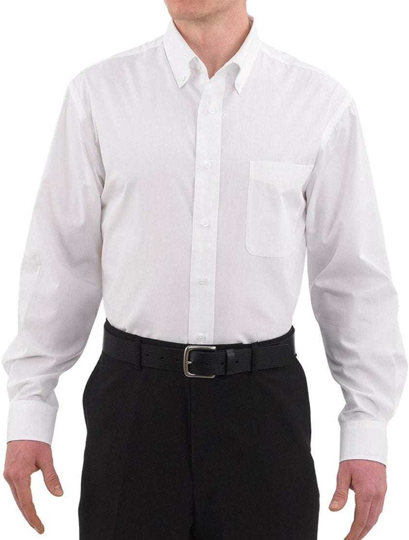 Three Star 1330 Oxford Shirt by Chefwear White Front