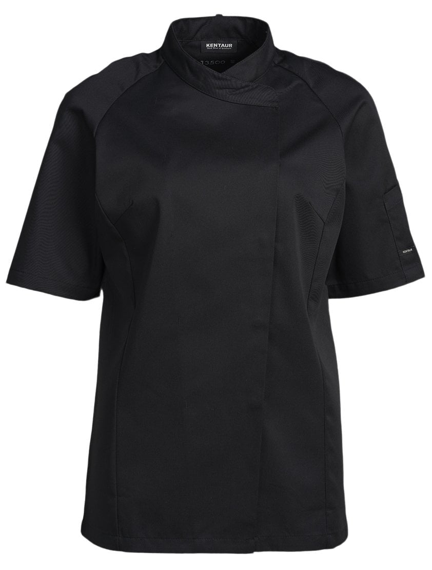 Kentaur 13500 Women's Chef/Waiters Jacket Front View Black