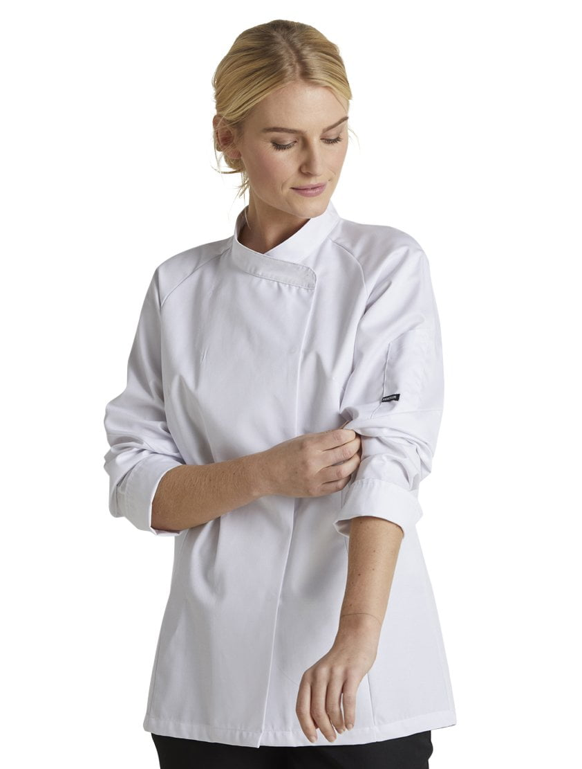 Kentaur 13501 Women's Chef/Waiters Jacket - White - Front