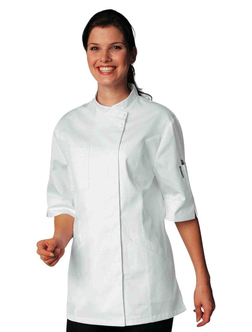 Verana Womens Chef Jacket par Bragard White Front