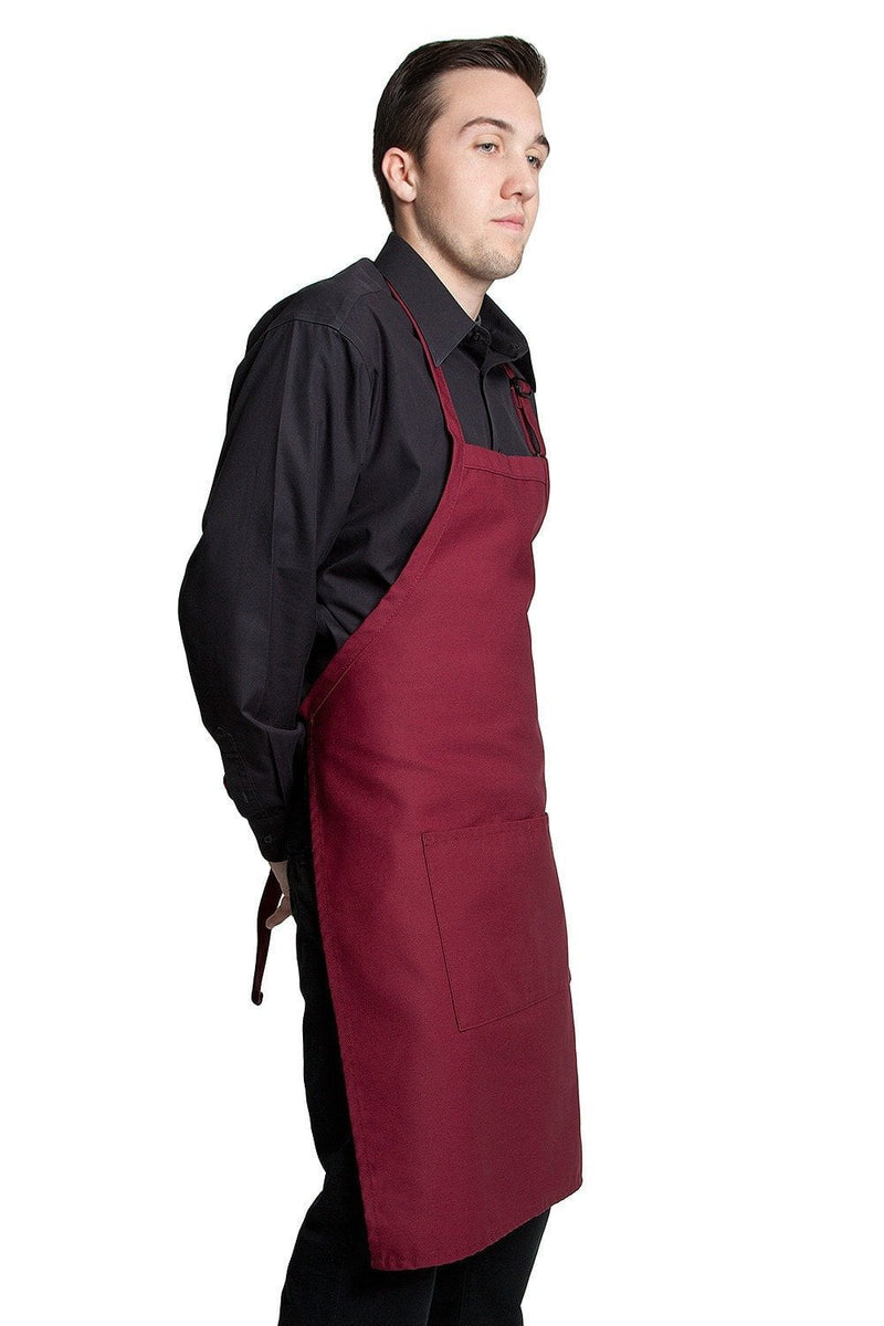 "Butcher Apron w/Center Pockets 34""L x 24""W Wine Side"