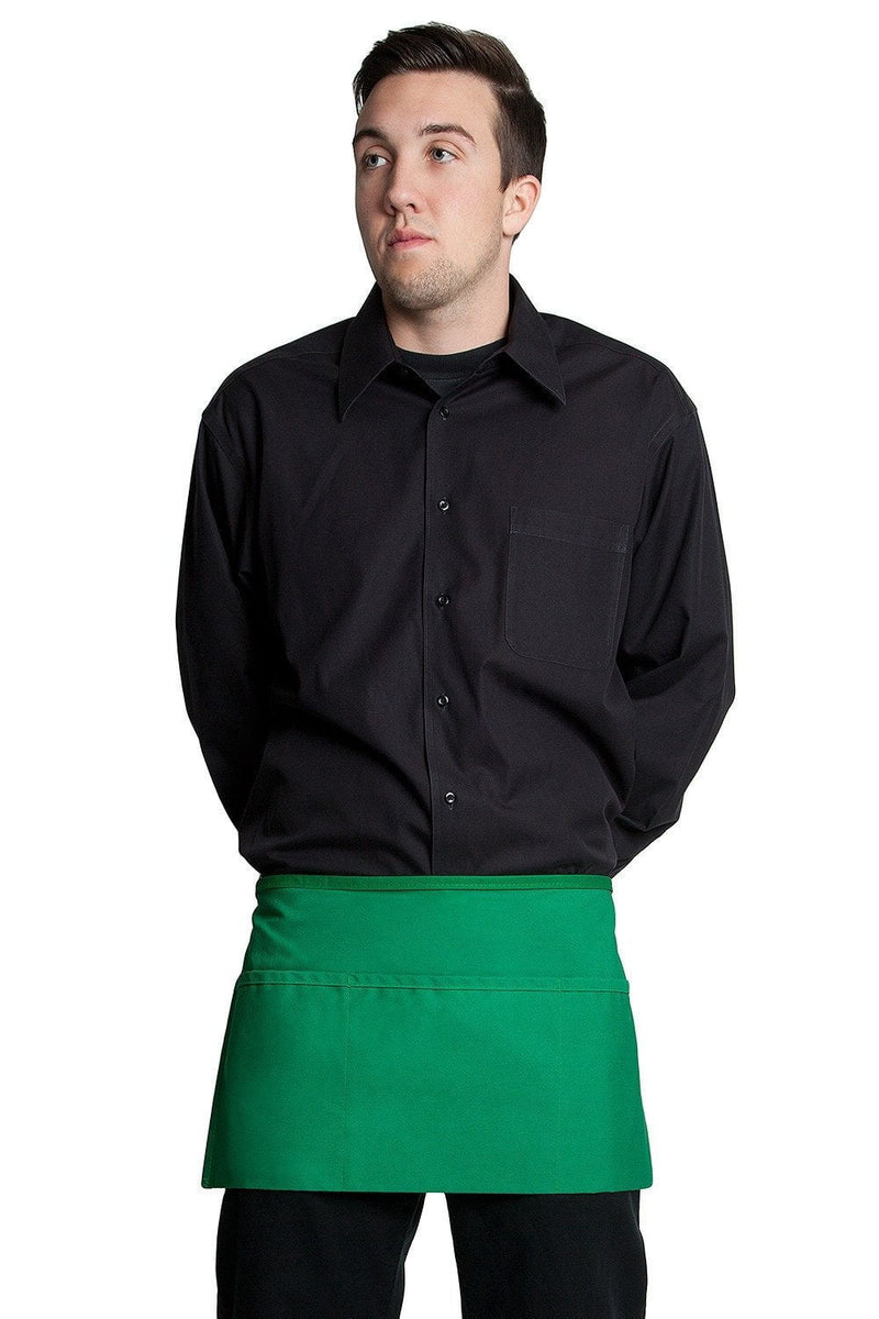 "3 Pocket Waist Apron 12""L x 23""W Kelly Green"