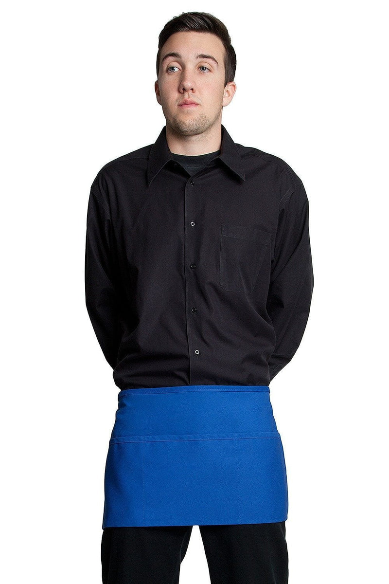 "3 Pocket Waist Apron 12""L x 23""W Royal Blue"