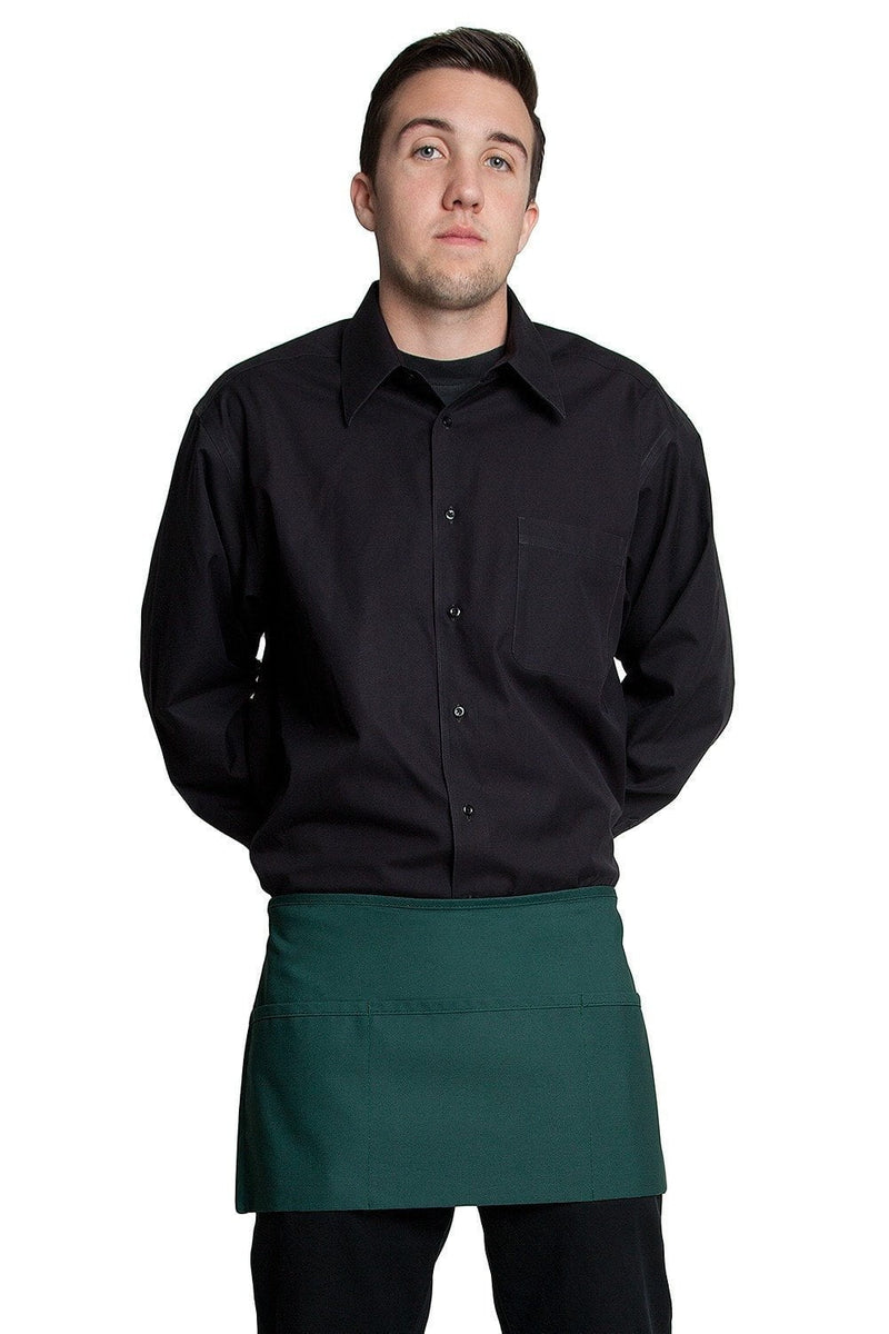"3 Pocket Waist Apron 12""L x 23""W Hunter Green"