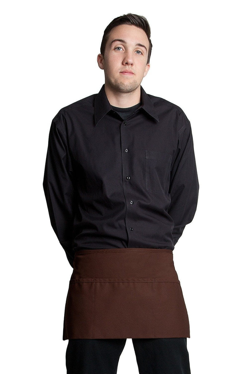 "3 Pocket Waist Apron 12""L x 23""W Espresso Brown"