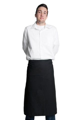 "Fiumara Apparel Full Bistro Apron w/ 1 Pocket 32""L x 28""W"