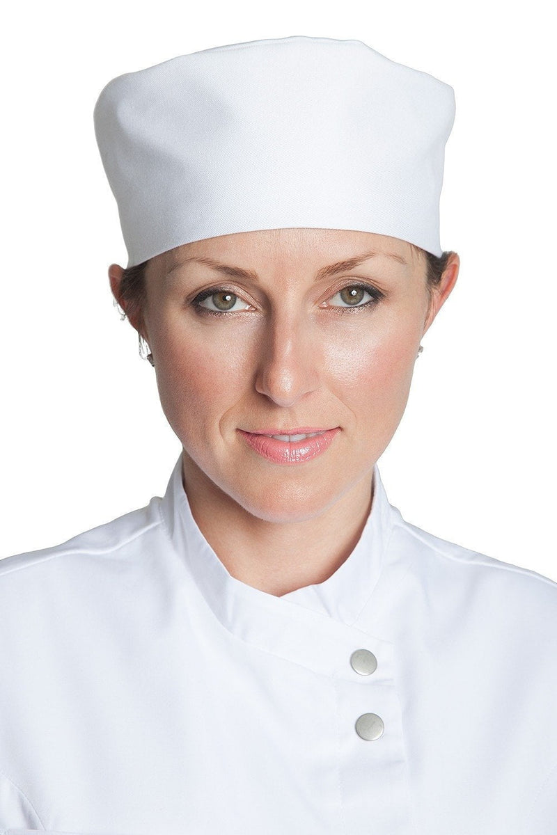 Professional Chef Skull Cap White Front