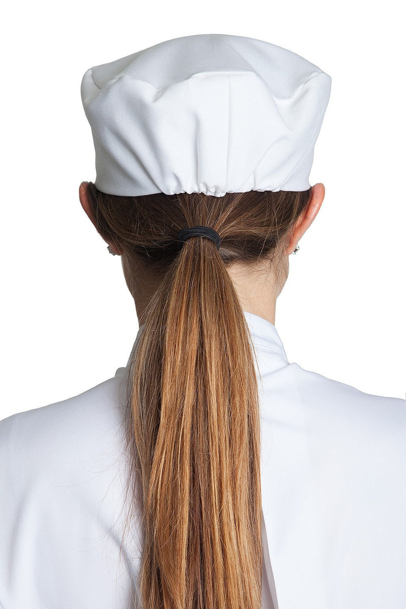 Professional Chef Skull Cap White Back