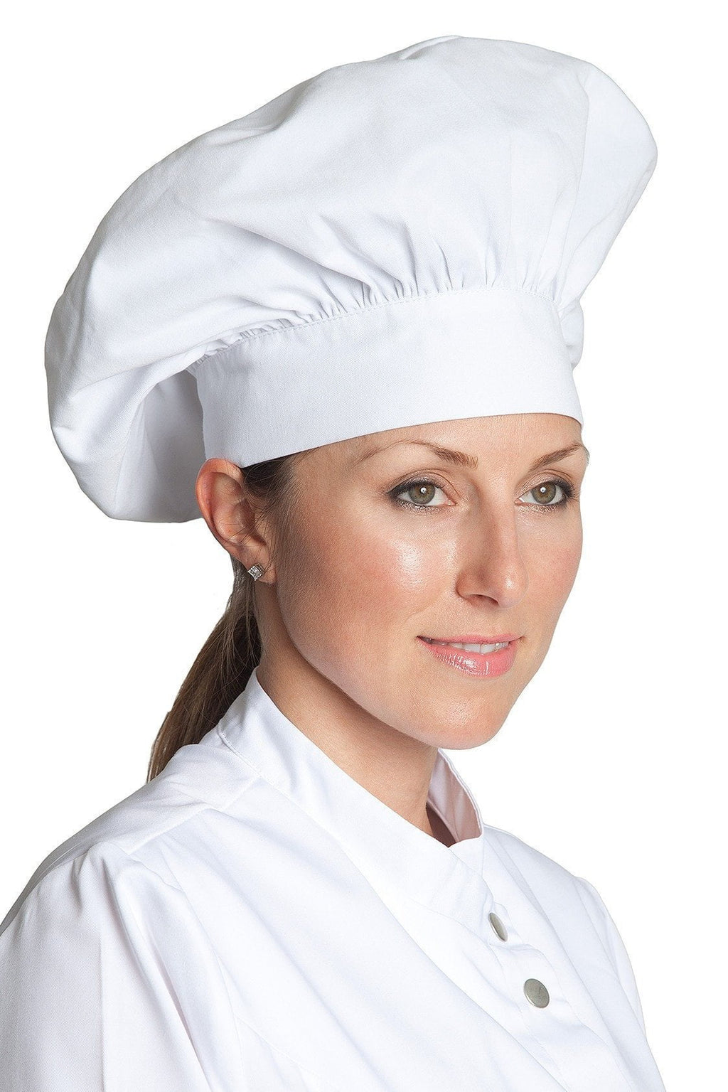 Poplin Chef Hats White Profile