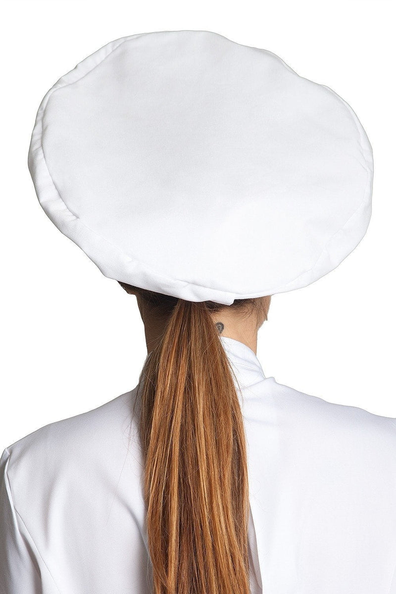 Poplin Chef Hats White Back