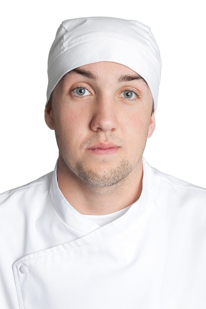 Professional Chef Head Wrap White Front