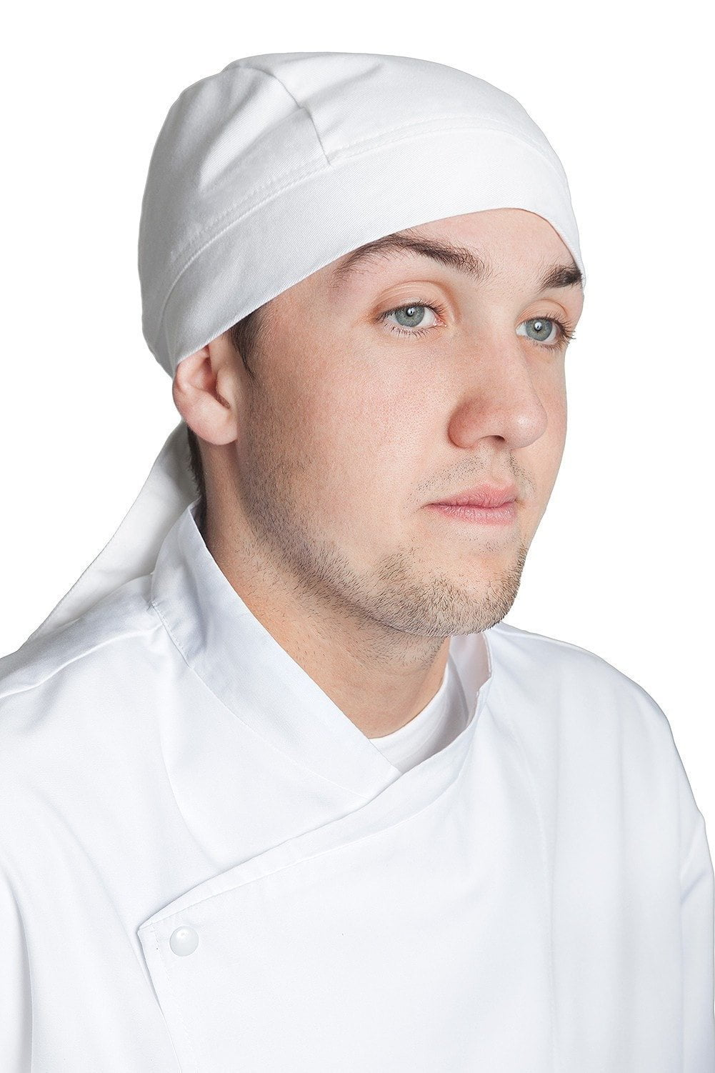 Professional Chef Head Wrap White