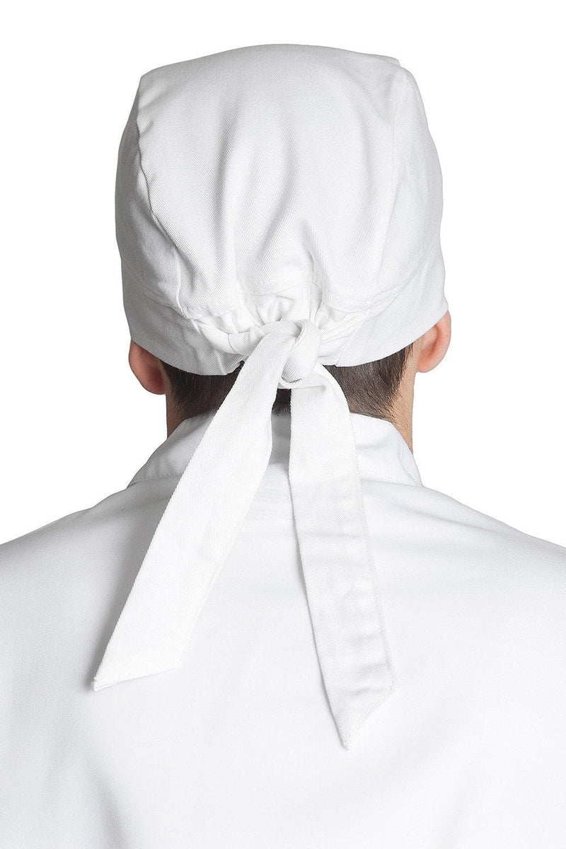 Professional Chef Head Wrap White Back