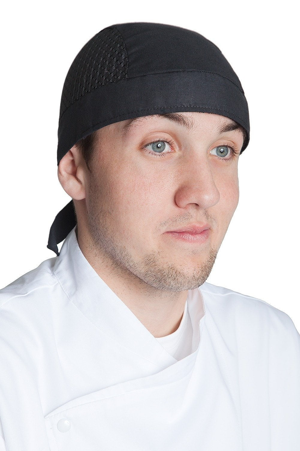 Vented Chef Head Wrap Black