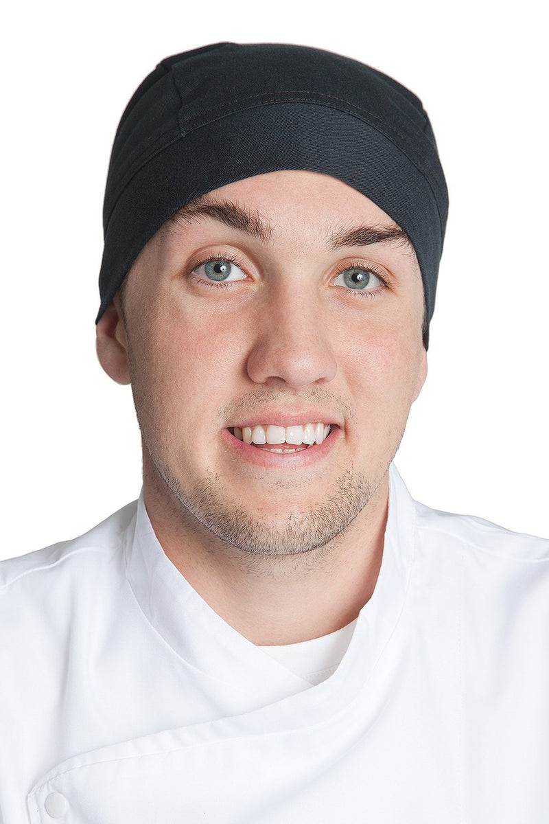 Fiumara Apparel Professional Chef Head Wrap Black - Front