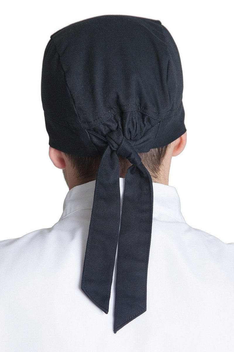 Fiumara Apparel Professional Chef Head Wrap Back - Black
