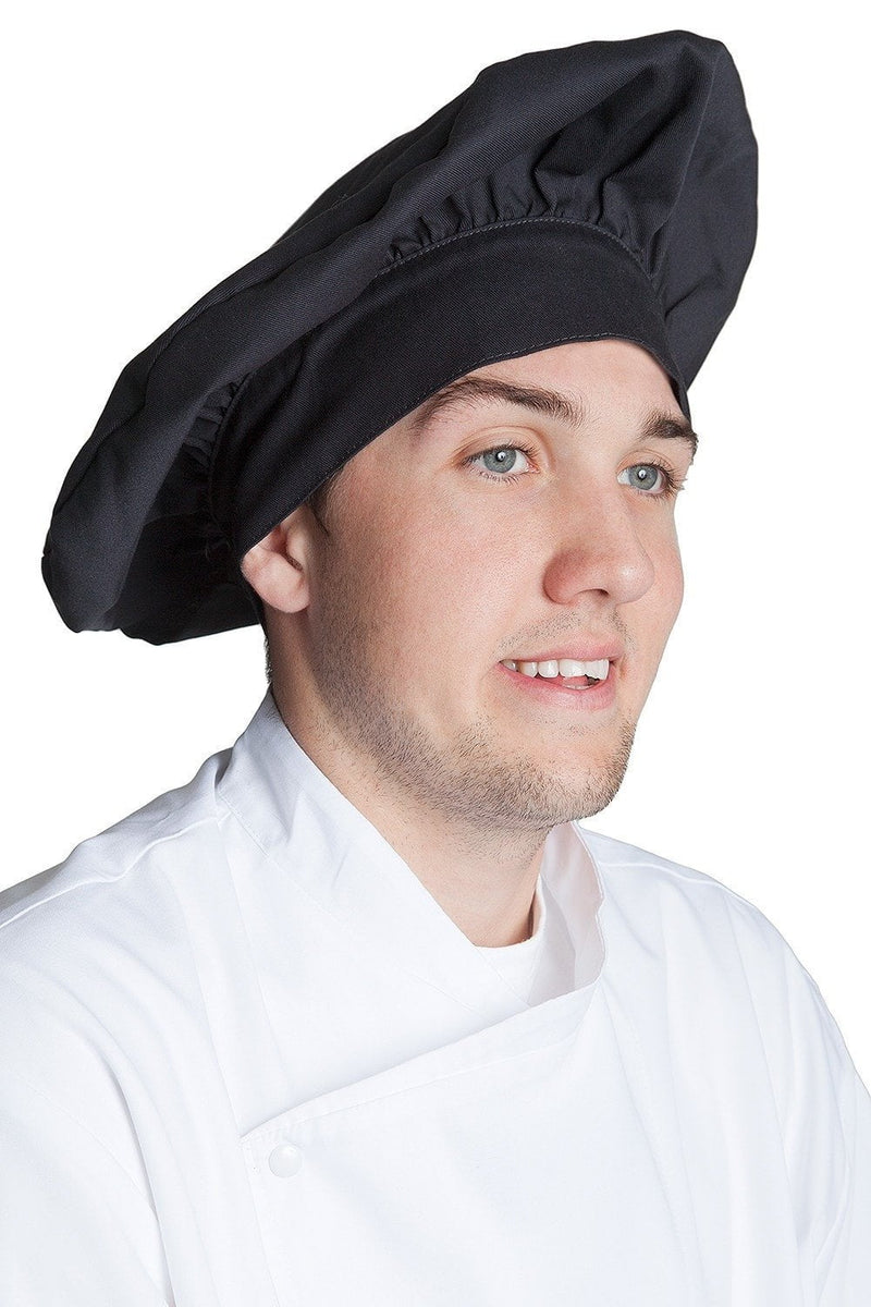 Fiumara Apparel Poplin Chef Hat Black Profile