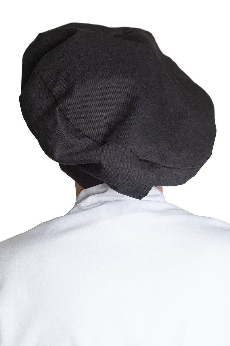 Fiumara Apparel Poplin Chef Hat Black Profile Black Back