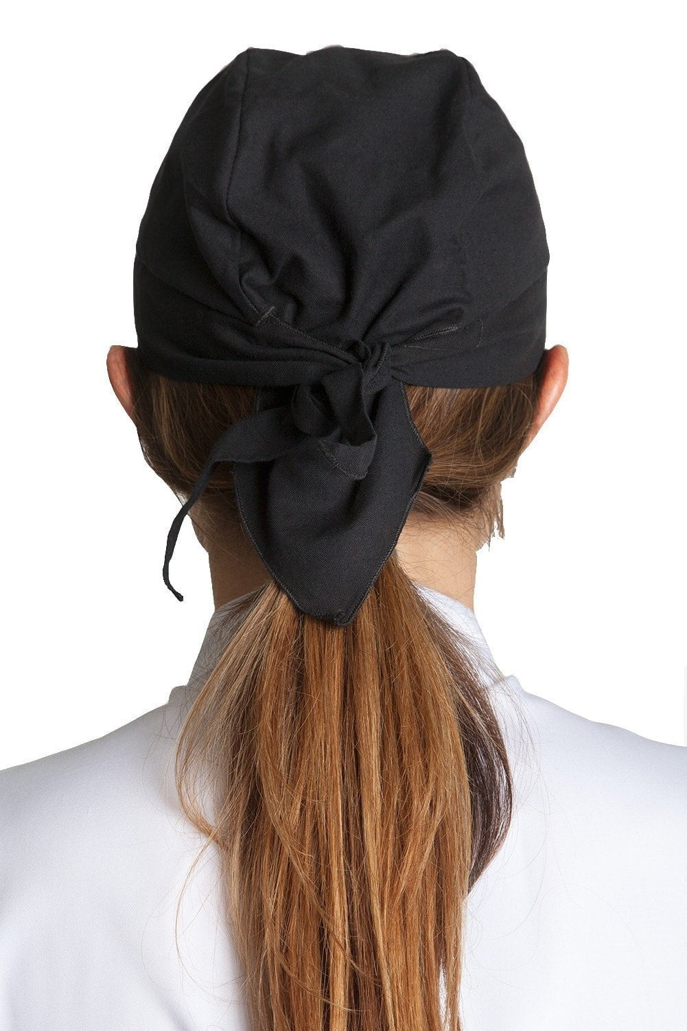 Deluxe Chef Head Wrap Black Back