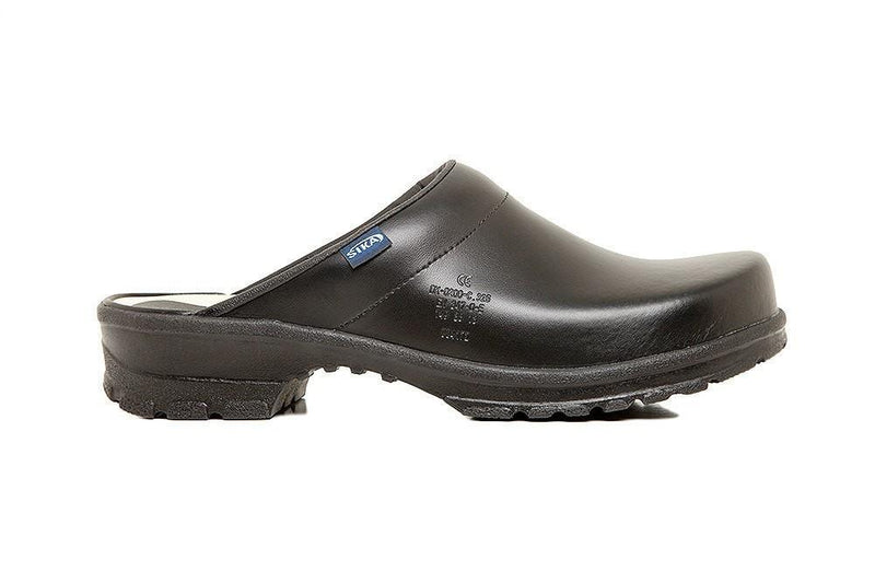 Birchwood Chef Clog w/Open Back by Sika Footwear Black Side Right
