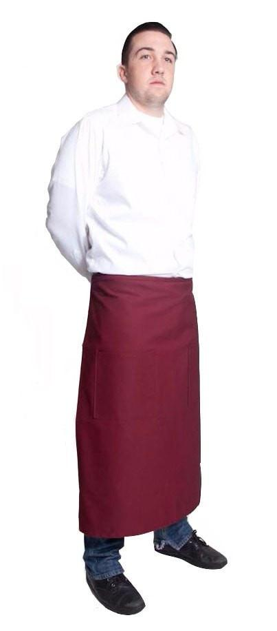 "Fiumara Apparel Full Bistro w/2 Pockets 32""L x 28""W Wine Side"