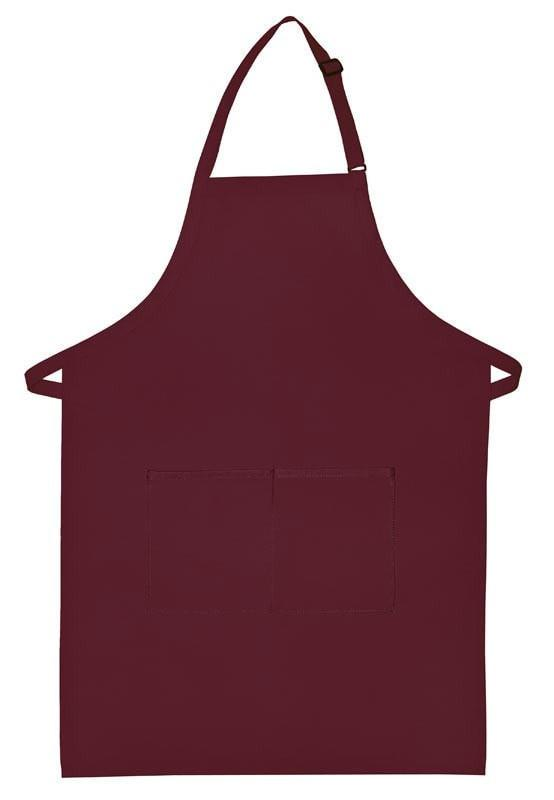 "Butcher Apron w/Center Pockets 34""L x 24""W Wine Open"