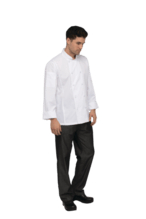 Chef Works Bowden Cool Vent Roll Up Sleeves Chef Coat-Side