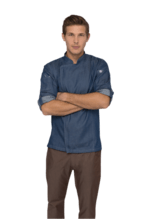 Gramercy Increased Flexibility Kitchen Throws Chef Coat-Front