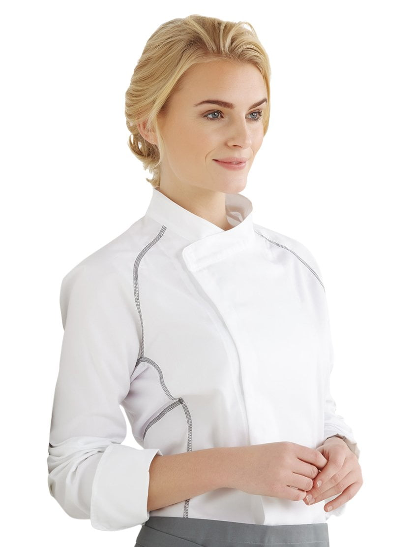 Kentaur 23401 Unisex Chef/Waiters Jacket Side View White