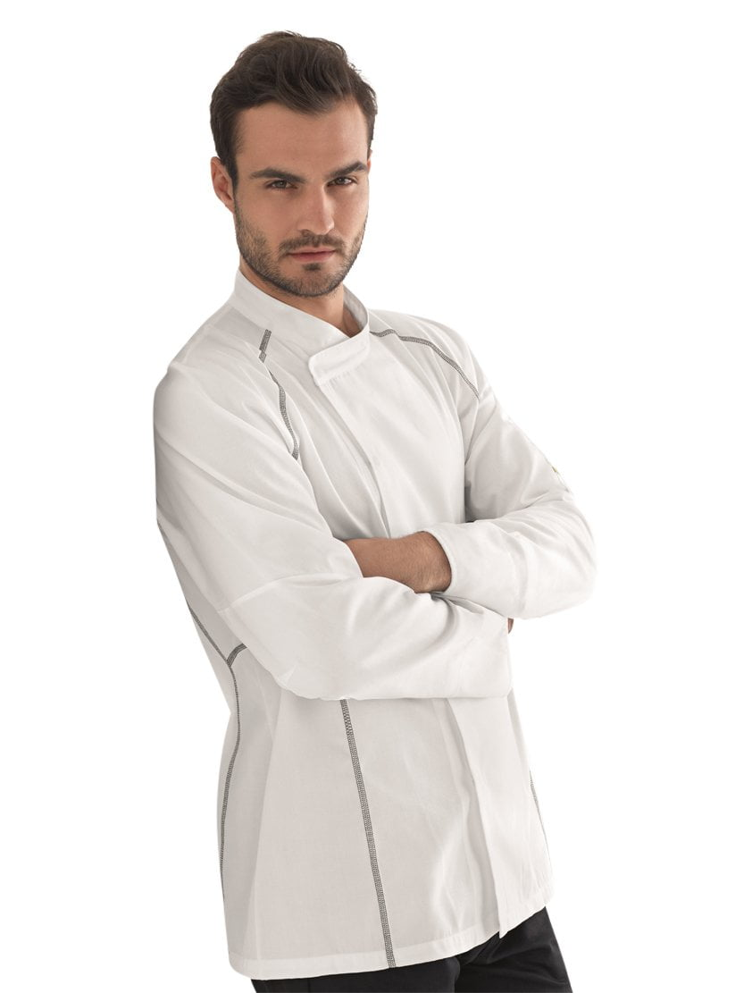 Kentaur 23401 Unisex Chef/Waiters Jacket - Grey - Side