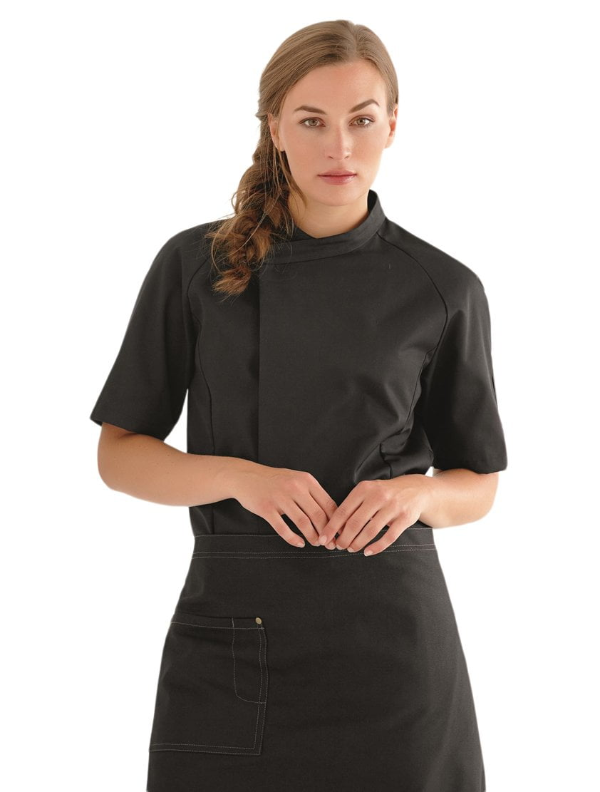 Kentaur 13500 Women's Chef/Waiters Jacket - Black - Front