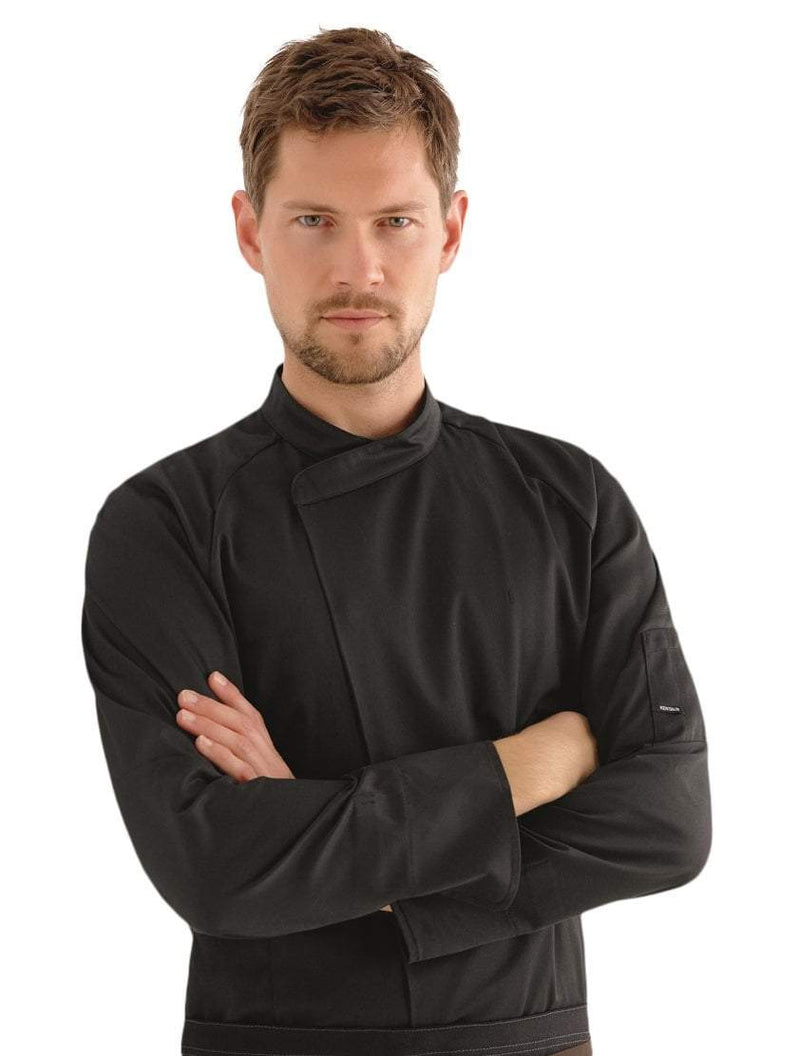 Kentaur 23501 Unisex Chef/Waiter Jacket  Front View Black