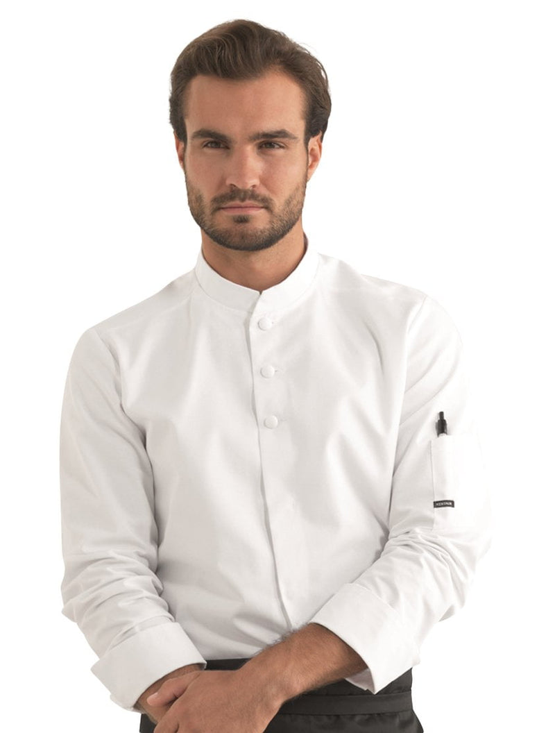 Kentaur 23511 Unisex Chef/Waiters Jacket Front View White