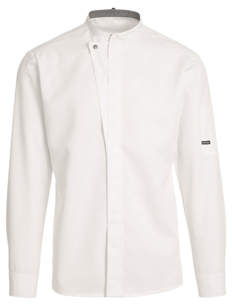 Kentaur 23515 Long Sleeve Chef/Service Jacket  - White - Front View