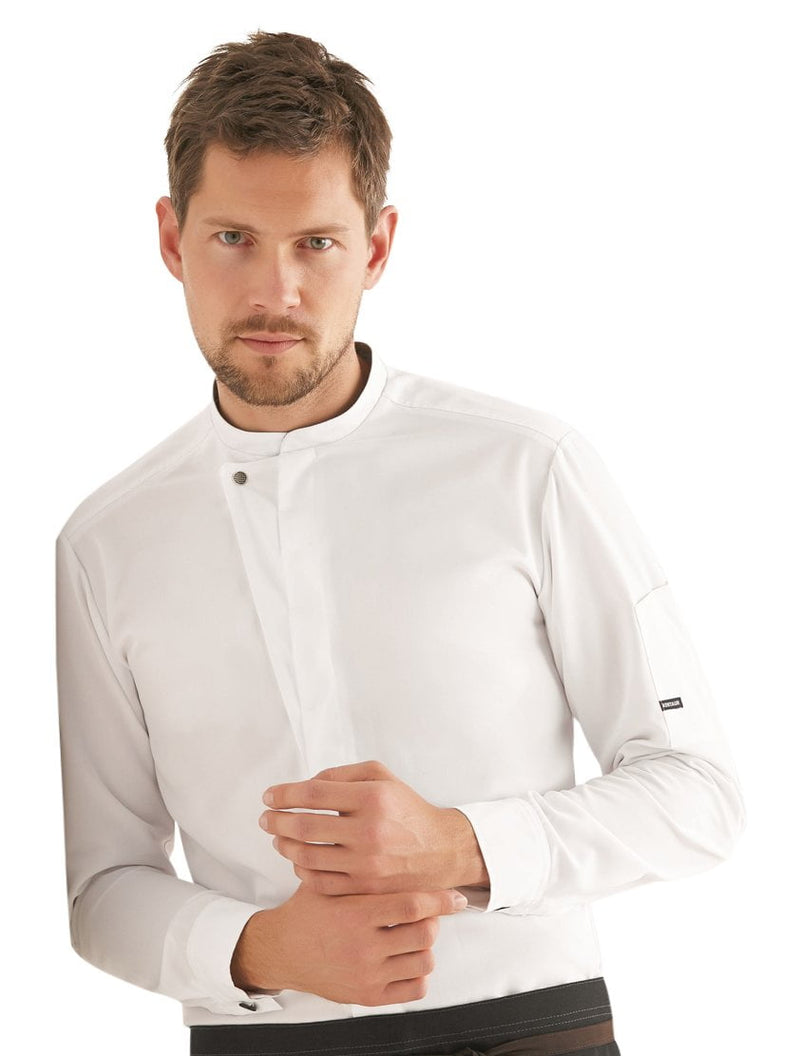 Kentaur 23515 Long Sleeve Chef/Service Jacket Front View White